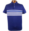 J.Lindeberg Men's Michael Slim Lux Stripe Jerseys - Navy/Purple