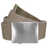 J.Lindeberg Plainer Brushed Leather Belts - Beige