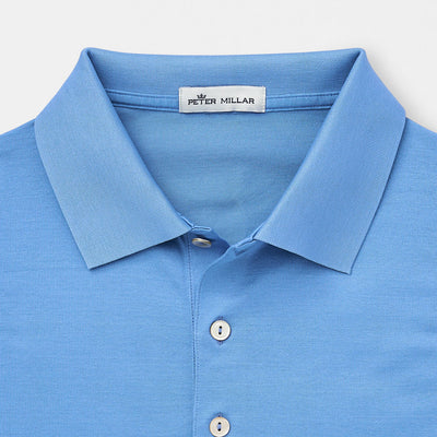 Peter Millar - Men's Crown Ease Solid Cotton Lisle Polo - LIBERTY BLUE - Medium