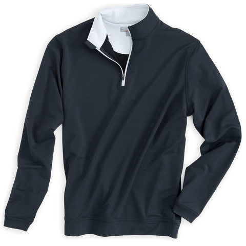 Peter Millar - Perth Performance Pullover 1/4 ZIP - BLACK - SZ LARGE