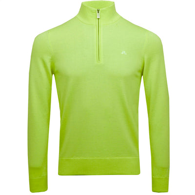 J.LINDEBERG MENS LTD EDITION  KIAN TOUR MERINO SWEATER - LIME