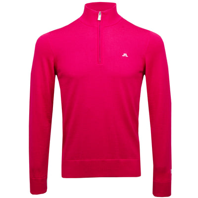 J.LINDEBERG MENS LTD EDITION  KIAN TOUR MERINO SWEATER - PINK