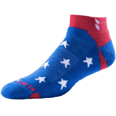 KENTWOOL TOUR SERIES STARS ANKLE SOCKS - Stars Blue - White - Red