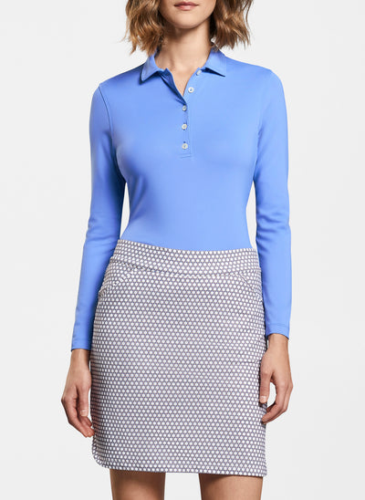 Peter Millar Women's Perfect Fit Performance Long-Sleeve Polo - MARINE - sz Small
