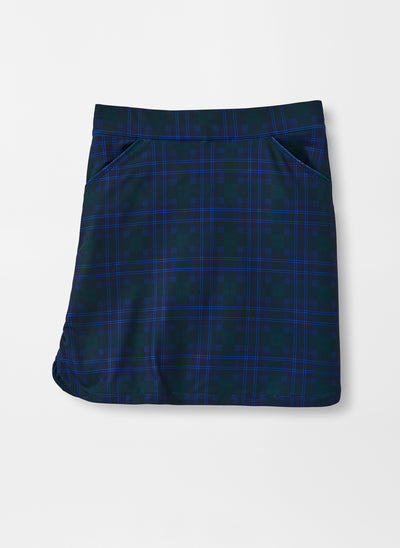 Peter Millar Women's Print Petal Hem Skort - FINCH BLUE - sz Small