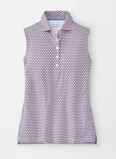 Peter Millar Women's Honeycomb Perfect Fit Sleeveless Performance Polo - MULTI - sz Small