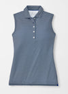 Peter Millar Women's Print Perfect Fit Sleeveless Performance Polo - WHITE - sz Small