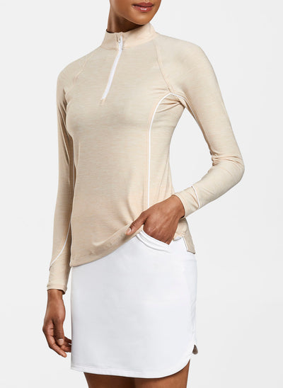Millar Women's Mélange Sun Comfort Base Layer - CHAMPAGNE/WHITE - sz Small