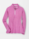 Peter Millar Women's Mélange Sun Comfort Base Layer - FOXGLOVE/WHITE - sz Small
