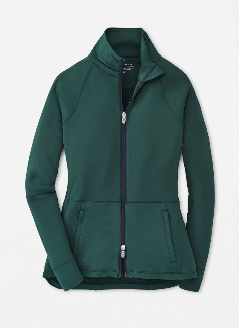 Peter Millar Women's The Monroe Skirted Full-Zip Layer - WILLOW - sz Small