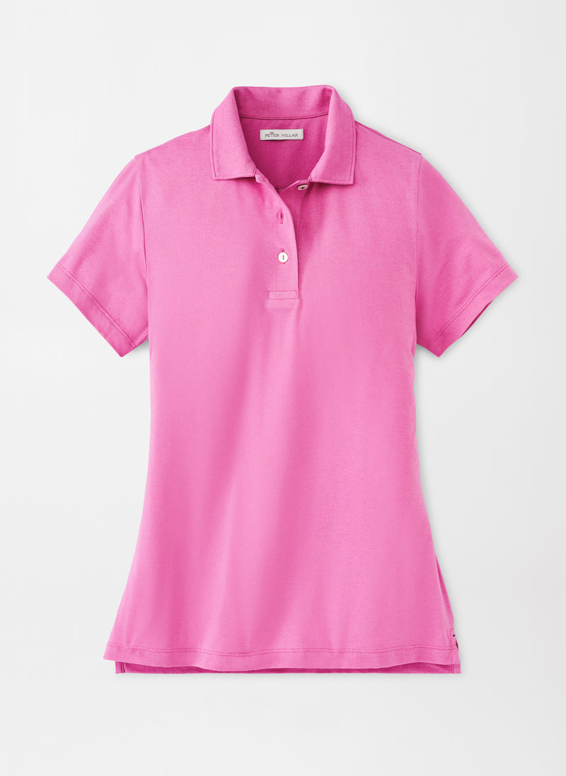 Peter Millar Women's Stretch Jersey Cotton Knit Polo - FOXGLOVE - sz Small