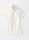Peter Millar Women's The Ellington Short-Sleeve Baby Piqué Polo - WHITE - sz Small
