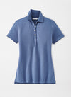 Peter Millar Women's The Ellington Short-Sleeve Baby Piqué Polo - WASHED INDIGO - sz Small