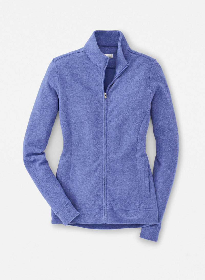 Peter Millar Women's Tri-Blend Mélange Fleece - FINCH BLUE - sz Small