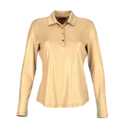 Greg Norman Ladies Long-Sleeved Button Placket Polo