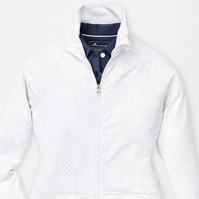 Peter Millar Women's Skirted Full-Zip Layer - WHITE SNAKE - sz Small
