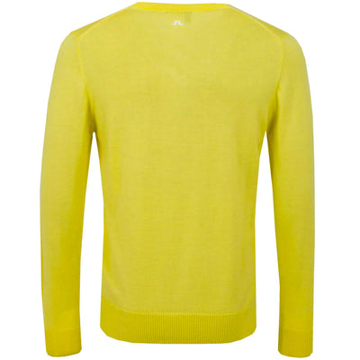 J. LINDEBERG MEN'S - LYMANN TRUE MERINO WOOL SWEATER - YELLOW