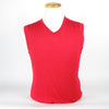 J.L Lynfa True Merino V-Neck Vest - Racing Red