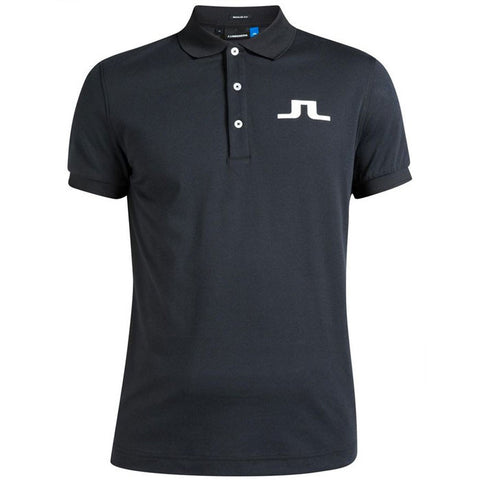 J.L BIG BRIDGE REG TX JERSEY POLO SHIRT - Black