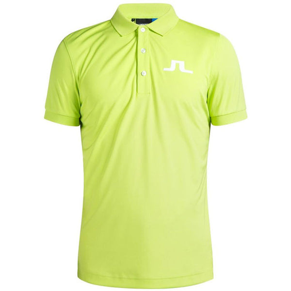 J.L BIG BRIDGE REG TX JERSEY POLO SHIRT - Green/Lime
