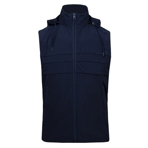 J Lindeberg Men's Full Zip Martin Vest Lux SoftShell - JL NAVY