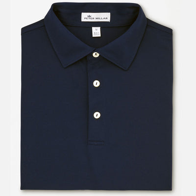 Peter Millar -  Mens Crown Sport Stretch Mesh Polo - NAVY - sz Medium