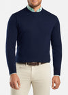 Peter Millar - Mens Crown Soft Crew Neck Wool Sweater - NAVY - SZ MEDIUM
