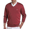 Greg Norman Collection Men's Solid V-Neck Sweater - Malbec