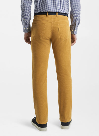Peter Millar Mens Superior Soft Corduroy Five-Pocket Pant - HARVEST