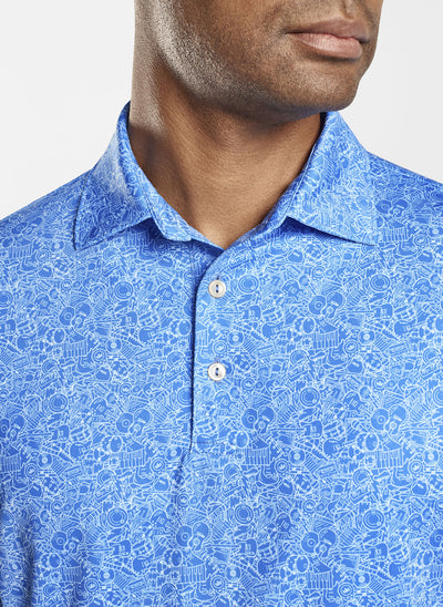 Peter Millar Mens Heritage Performance Polo - CAPE BLUE