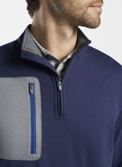 Peter Millar - Mens Mackay Performance Quarter-Zip - NAVY
