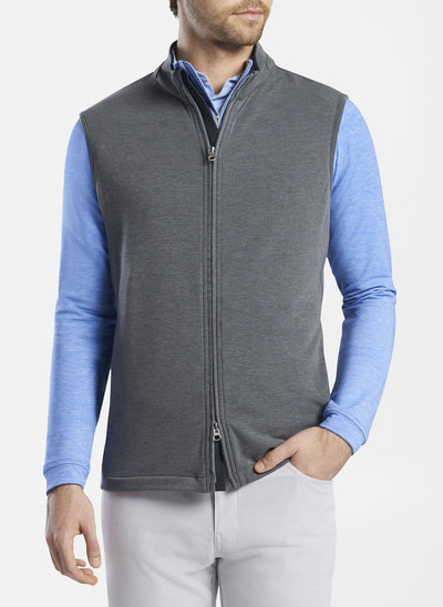 Peter Millar -  Mens Halls Natural Touch Vest - IRON