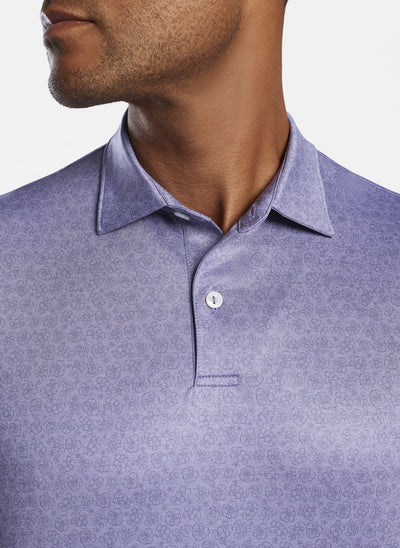 Peter Millar Mens Dunand Performance Polo - DEEP VIOLET