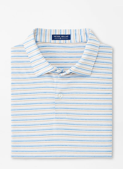 Peter Millar Mens Kramer Performance Polo - CASHMERE BLUE