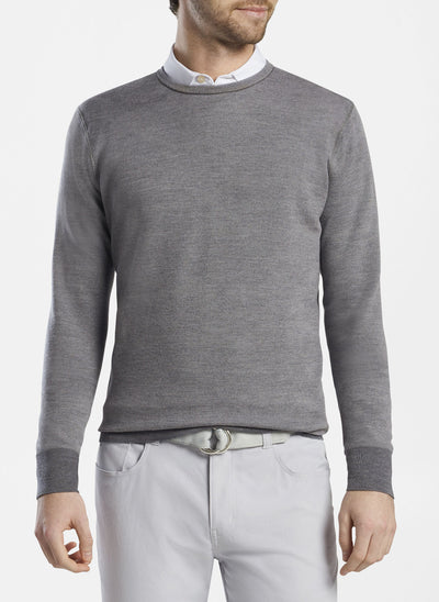 Peter Millar -  Mens Reversible Camo Wool Crewneck - GREY