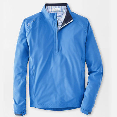 Peter Millar - Mens Hyperlight Shield Half-Zip Water Proof Jacket - CAPE BLUE
