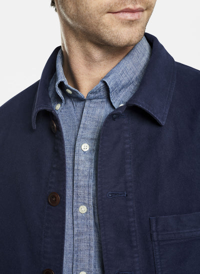 Peter Millar - Mens Moleskin Chore Coat - NAVY