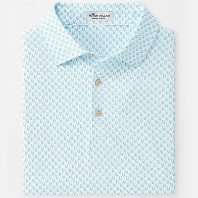 Peter Millar - Mens Hudson Printed Skulls Performance Polo -WHITE