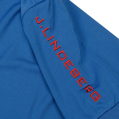 J.LINDEBERG MENS - TOUR TECH REG FIT TX JERSEY POLO - WORK BLUE