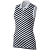 Nike Women's Precision Print Sleeveless Golf Polos - WHITE/BLACK/METALLIC SILVER