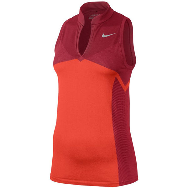 Nike Women's Zonal Cooling Dri-FIT Knit Golf Racerback - MAX ORANGE/GYM RED/FLT SILVER