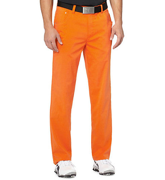 Puma 6-Pocket Golf Pants - Vibrant Orange