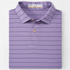 Peter Millar -  Mens Featherweight Striped Performance Polo - PLUM
