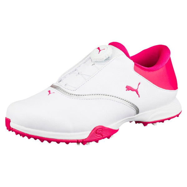 Puma- Women's  Blaze DISC Golf Shoes  - White / Bright Rose