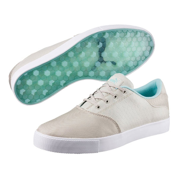 Puma- Women's  Tustin Saddle Golf Shoes - Oatmeal / Blue