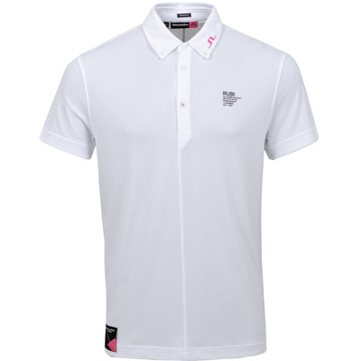 J.LINDEBERG MENS LTD EDITION ARCHIVE RUBI REG POLO - WHITE