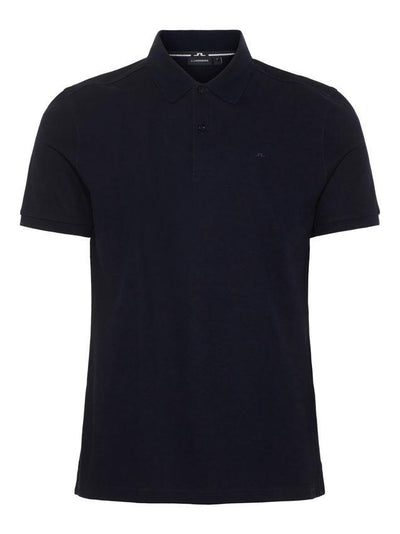 J.LINDEBERG MENS TROY CLEAN PIQUE POLO SHIRT - BLACK