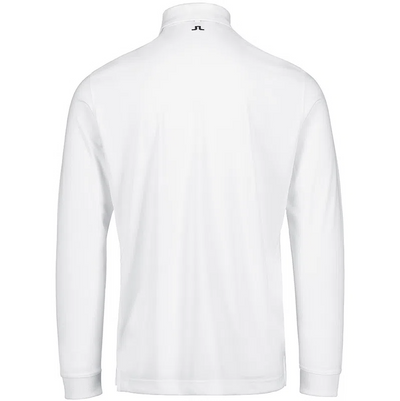 J.LINDEBERG Mens - TOUR TECH LONG SLEEVE TX JERSEY Big Bridge - WHITE