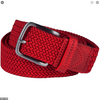 J.LINDEBERG MENS CHAPPER 35 Solid Elastic Braid Belt - Red Intense