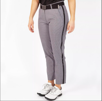 Galvin Green Womens Naomi Trouser Houndstooth - Black White